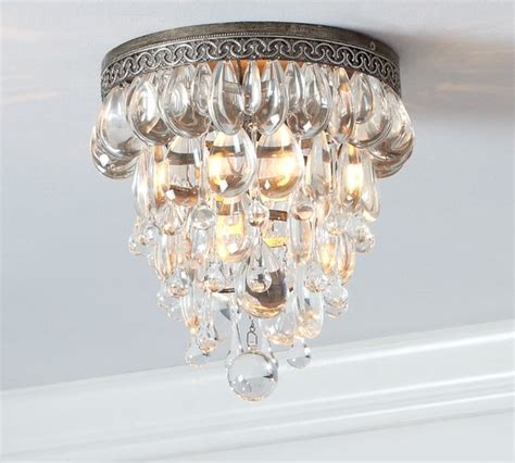 clarissa glass drop flushmount traditional ceiling lighting by pottery barn