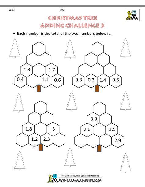 Christmas Math Worksheets (harder