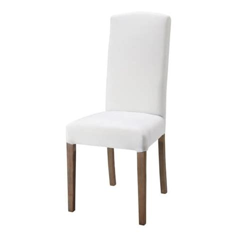 fabric and wood chair in white maisons du monde