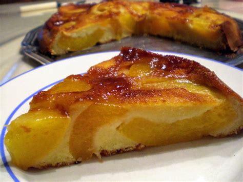 gateau peches abricots caramelises recette