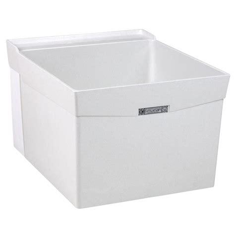 mustee utilatub 20 in x 24 in fiberglass wall mount laundry utility tub 18w the home depot