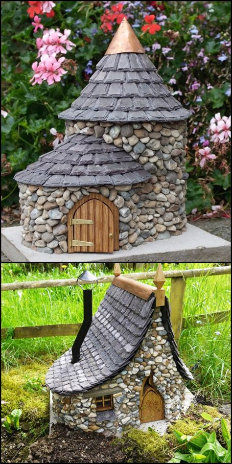 Gnome Homes For Gardens make a miniature house houses
