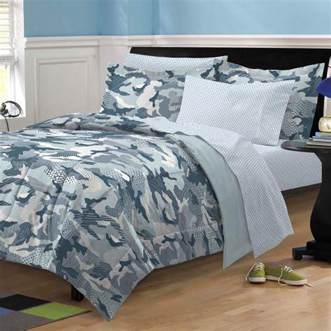 new geo camo steel blue gray camouflage bedding kid comforter sheet set ebay