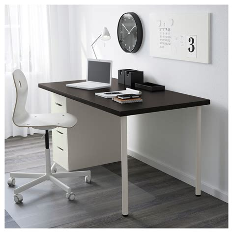 alex linnmon table black brown white 150x75 cm ikea