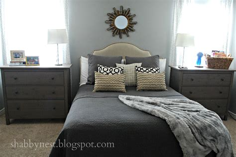 I like the use of small dressers as bedside tables Two