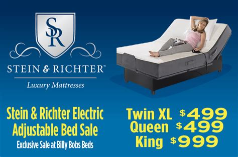 bobs adjustable bed billy bobs beds and mattresses stein richter electric