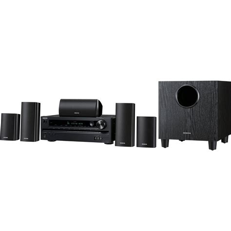 5 1 home theater system onkyo ht s3400 5 1 home theater system ht s3400 b h photo