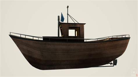 Norwegian Boats by 3d Model Norwegian Fishing Boat Vr Ar Low Poly Obj Fbx
