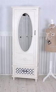 Spiegelschrank Shabby Chic : dielenschrank landhausstil schrank weiss kleiderschrank garderobenschrank antik ebay ~ Markanthonyermac.com Haus und Dekorationen