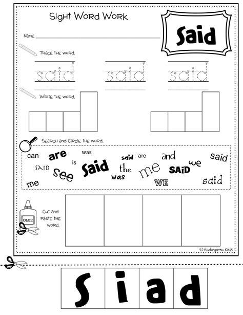 Kindergarten Kiosk Multitask Sight Word Workbook