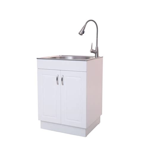 glacier bay all in one 26 in x 23 in x 31 in stainless steel countertop laundry utility sink