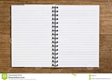 Open Spiral Notebook Royalty Free Stock Photography  Image 5806777