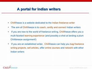 A website exclusively for Indian freelance writers