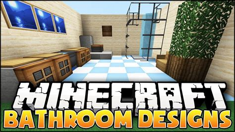 minecraft bathroom designs ideas