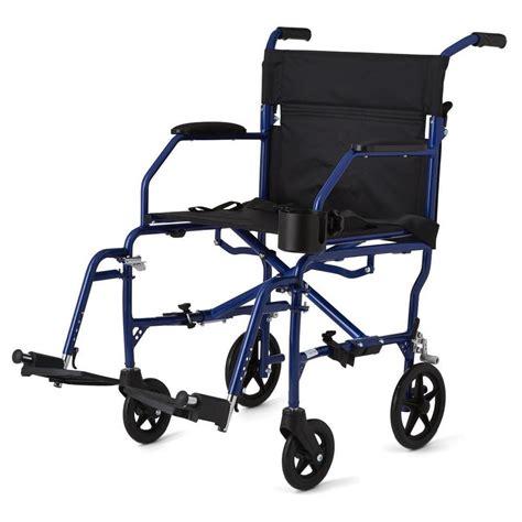 medline ultra light weight transport chair wheelchair aluminum weighs 15 lbs ebay