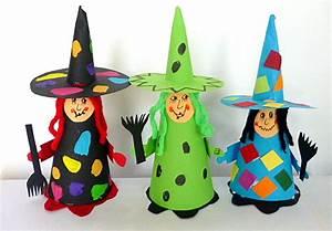 Deko Aus Toilettenpapierrollen : hexe aus tonpapier halloween basteln meine enkel und ich ~ Markanthonyermac.com Haus und Dekorationen