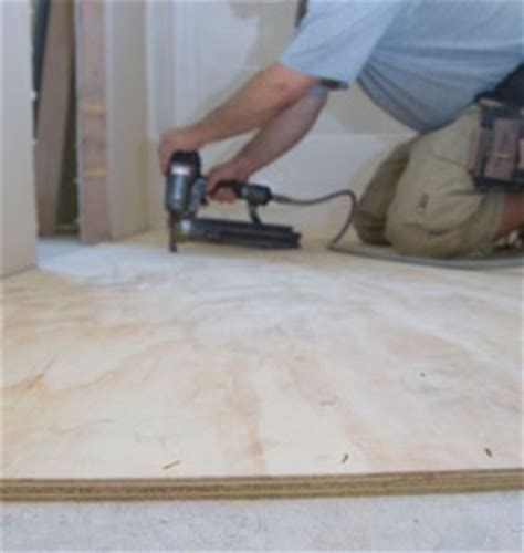 install plywood underlayment for vinyl flooring how to