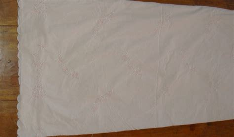 simply shabby chic white scallop edge fabric shower