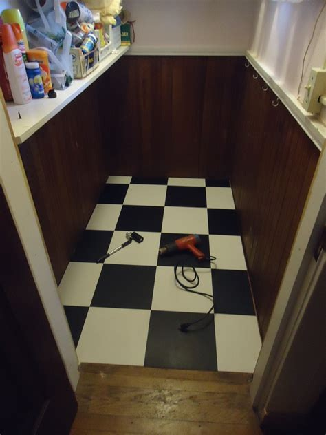 checkerboard flooring installing back vinyl tile