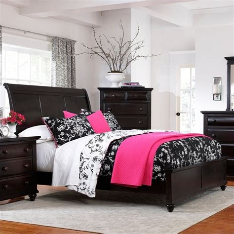 broyhill farnsworth sleigh bed in inky black stain 4856 sleighbed
