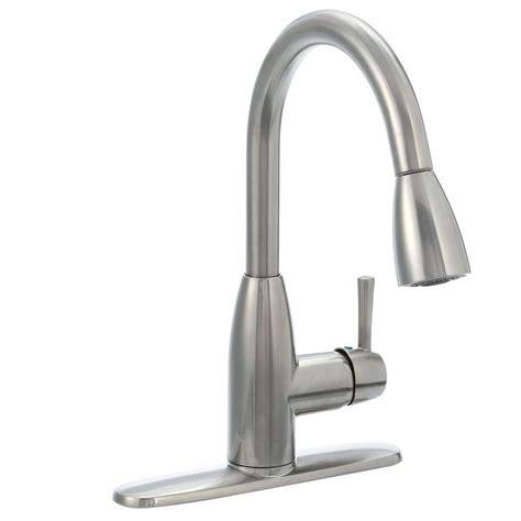 american standard fairbury single handle pull sprayer kitchen faucet in stainless steel