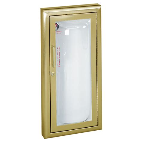 semi recessed extinguisher cabinet jl industries clear vu harbor city supply
