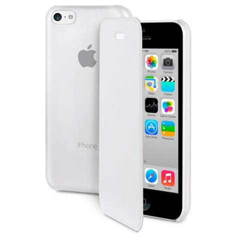 coque iphone 5c blanche folio slim