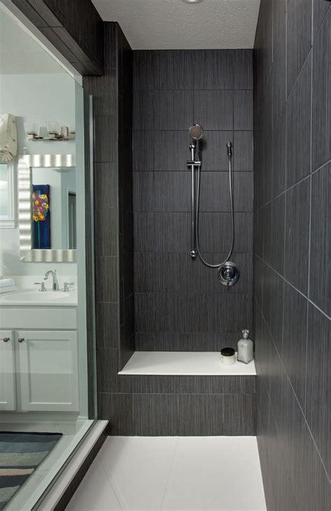 gray large shower tiles walk in shower ideas glass door contemporary bathroom design