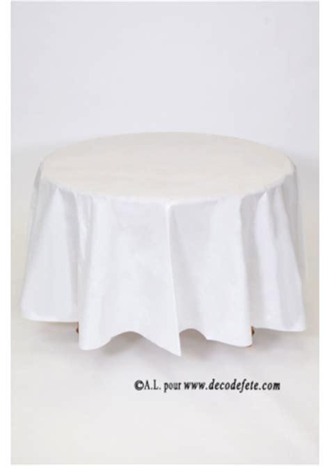1 nappe presto ronde jetable blanc