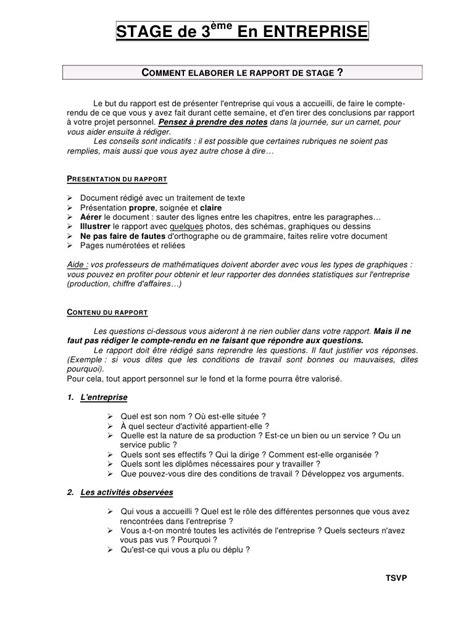 stage en entreprise 4 232 me par xavier hill consignes rapport de stage 3 232 me 2014 2015 pdf