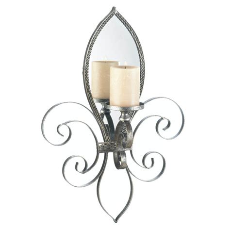 Mirrored Wall Sconce Candle Holder Votive Tea Light Iron