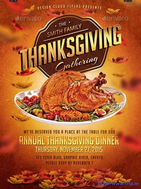 Thanksgivng Dinner Pages Template by Thanksgiving Dinner Flyer Templates Happy Easter