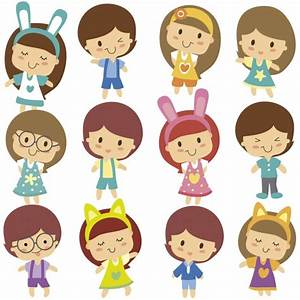 Cute kids character Vector | Free Download