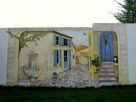 peinture trompe l oeil mur exterieur peinture antirouille