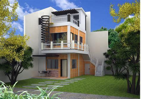3 Floor Home Design : Imagined 2 Storey Modern House Plans