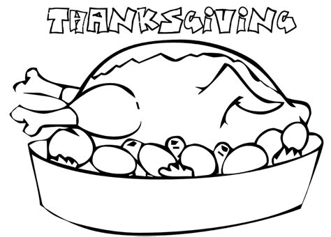 Thanksgivng Dinner Pages Template by Turkey Dinner Coloring Page Coloring Book