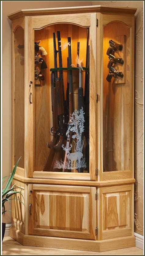 wooden gun cabinets with etched glass home design ideas