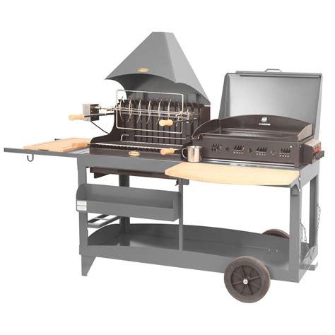 barbecue et plancha au charbon de bois et au gaz lemarquier mendy alde gris ant leroy merlin