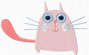 Cute small cat free machine embroidery design