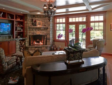 living room layout with fireplace in corner corner fireplaces a simple way of spreading a wonderful