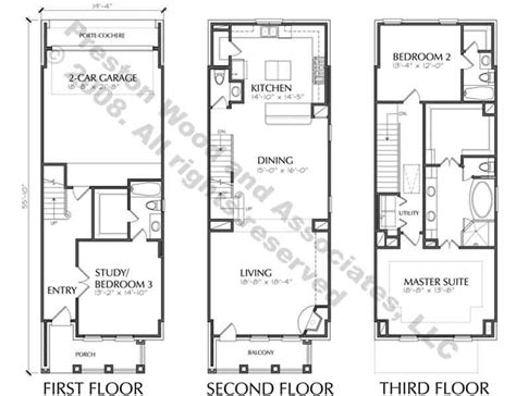 Townhouse Plan D5214-2383 Small French Doors Seattle Commercial Glass Door Box Truck Repair Interior Casing Kit 8 Unique Security Screen Home Depot Iron