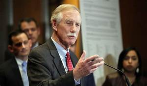 Sen. Angus King, I-Maine, speaks about immigration and the ...