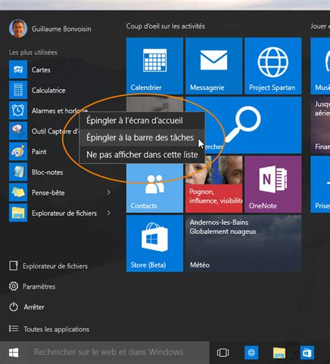 windows 10 cr 233 er un raccourci vers une application sur le bureau