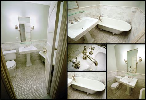 Hex Tile, Tubs And Bungalow Bathroom