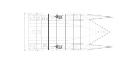 Catamaran Hull Lines by Lomocean Design Naval Architecture And Yacht Design