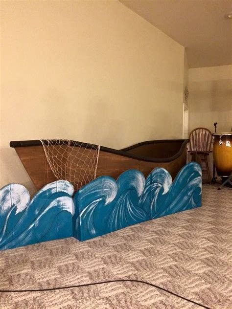 How To Make A Cardboard Boat With Only Duct Tape by Cardboard Boat For Easter Play Stage Decorations
