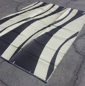 rv patio awning mat reversible outdoor rug 9x12 brown