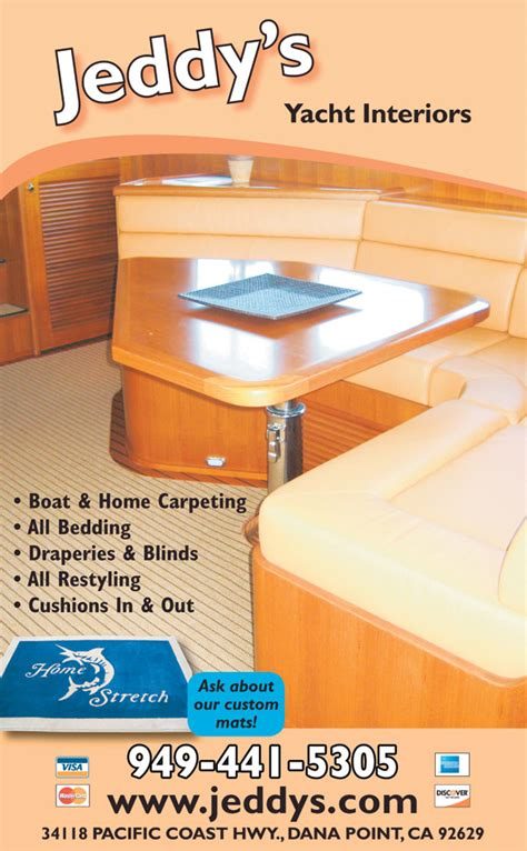 Boat Upholstery Dana Point by Jeddy S Upholstery And Interiors Dana Point Ca 92629