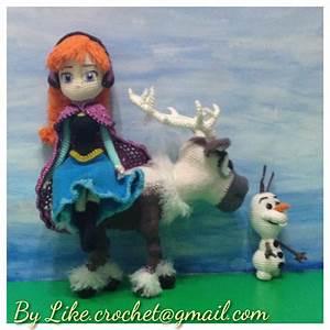 Anna, Olaf & Sven meet at North Mountain crocheted ...