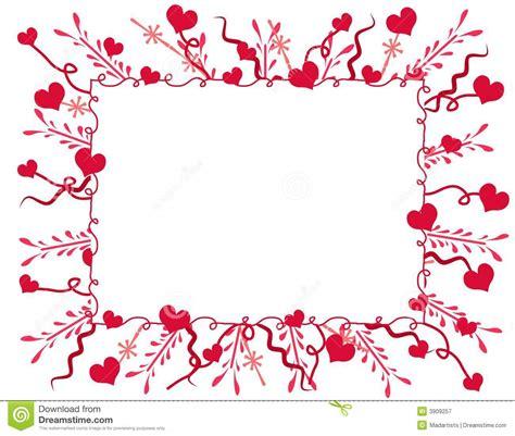 trame ou cadre d 233 corative de coeurs de photographie stock libre de droits image 3909257